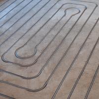 Vloerverwarming gefreesd 10m² in 1 groep